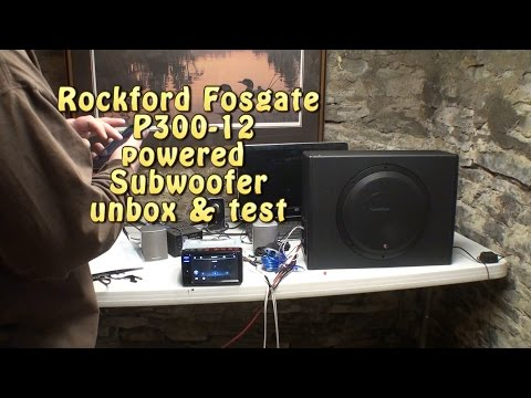 Rockford Fosgate P300-12 powered subwoofer UNBOX & TEST.
