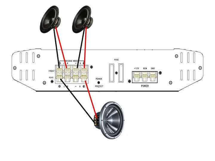 Best 4 Channel  lifiers on bridge subwoofer wiring diagram