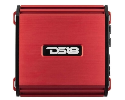 DS18 S-1500.4DRD Car Audio Amplifier – 4 Channel, Full Range, Class D, 1500 Watts (Red)
