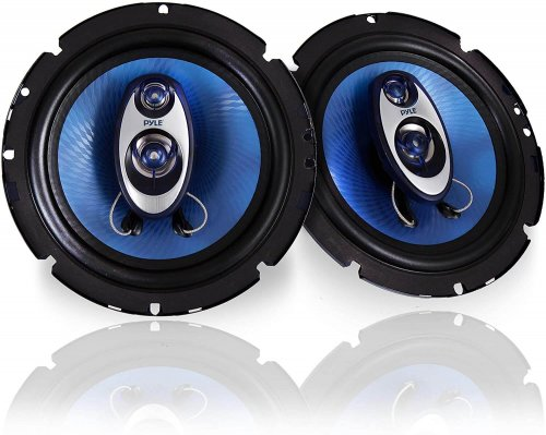Pyle - cool blue car speakers for those who like the aesthetics