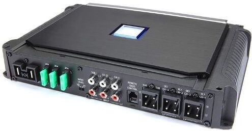 back of Alpine X-A90V X-Series - Best performing 5-channel amp