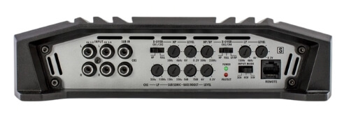 back of Hifonics BRX5016.5 Brutus best performing 5-channel amp