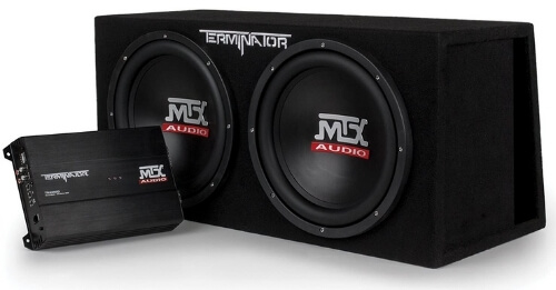MTX Audio Terminator TNP212DV – All-In-One Monoblock Amplifier With Dual 12-Inch Subwoofers – A Perfect Starter Kit