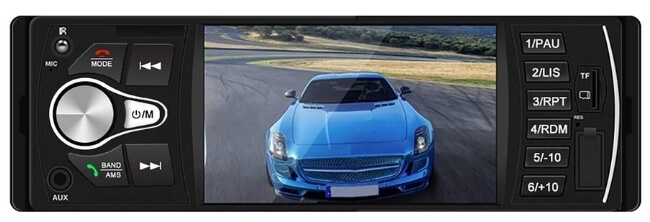 """Dayo Car Stereo with 4.1"""" Touchscreen and Bluetooth"""